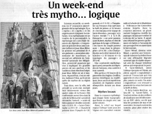 L'Union du 4 avril 2009 (Rencontres de Mythologie de Soissons)